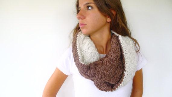Bufandas de lana hechas a mano. Cuello de lana para mujer