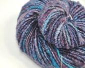 Handspun Art Yarn, Luxury textured Artisan Autowrapped Corespun with a hint of bling - FAIRY LIGHTS