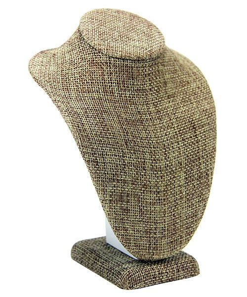 Burlap Necklace Bust 4 1 4 Wide X 6 High Pack Of