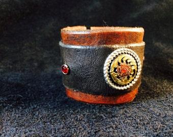 Black Canyon leather cuff