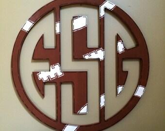 Sports Themed Monogram, Initials, Boy Door Hanger, Baby Boy Door Hanger, Baseball Door Hanger, Football Door Hanger