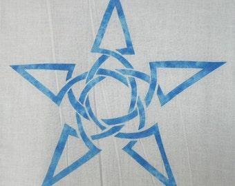 Easy Celtic Star Knot Quilt Applique Pattern Design