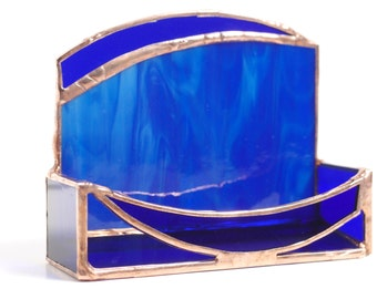 Custom Handmade Stained Glass Business Card Holder