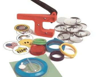 """Button-Maker: 2 1/4"""" Pin-Back Button-Maker Starter System! Includes Cut-A-Circle."""