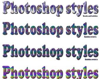 Photographic seamless Photoshop styles, Set 1.