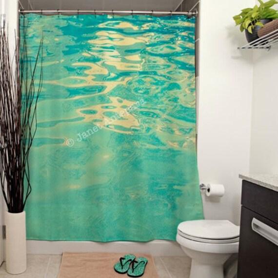 Summer waters printed shower curtain bathroom decor home for Summer bathroom decor