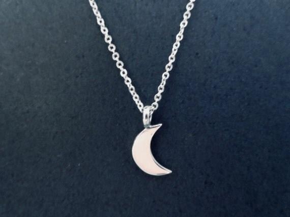 Pendentif croissant de lune argent