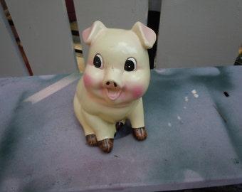 1950s chalkware pig bank