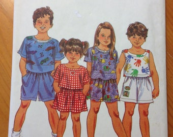 Simplicity 8443 Child's Shorts and Top Pattern Size BB (5-6X)