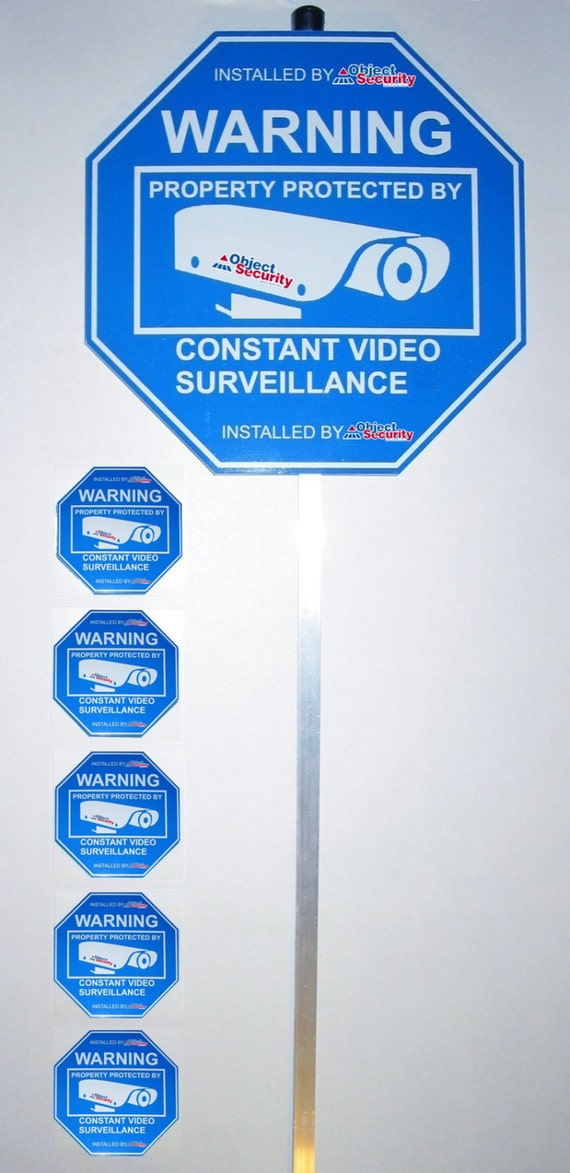 1 Security Sign And 5 Window Stickers Alarm By