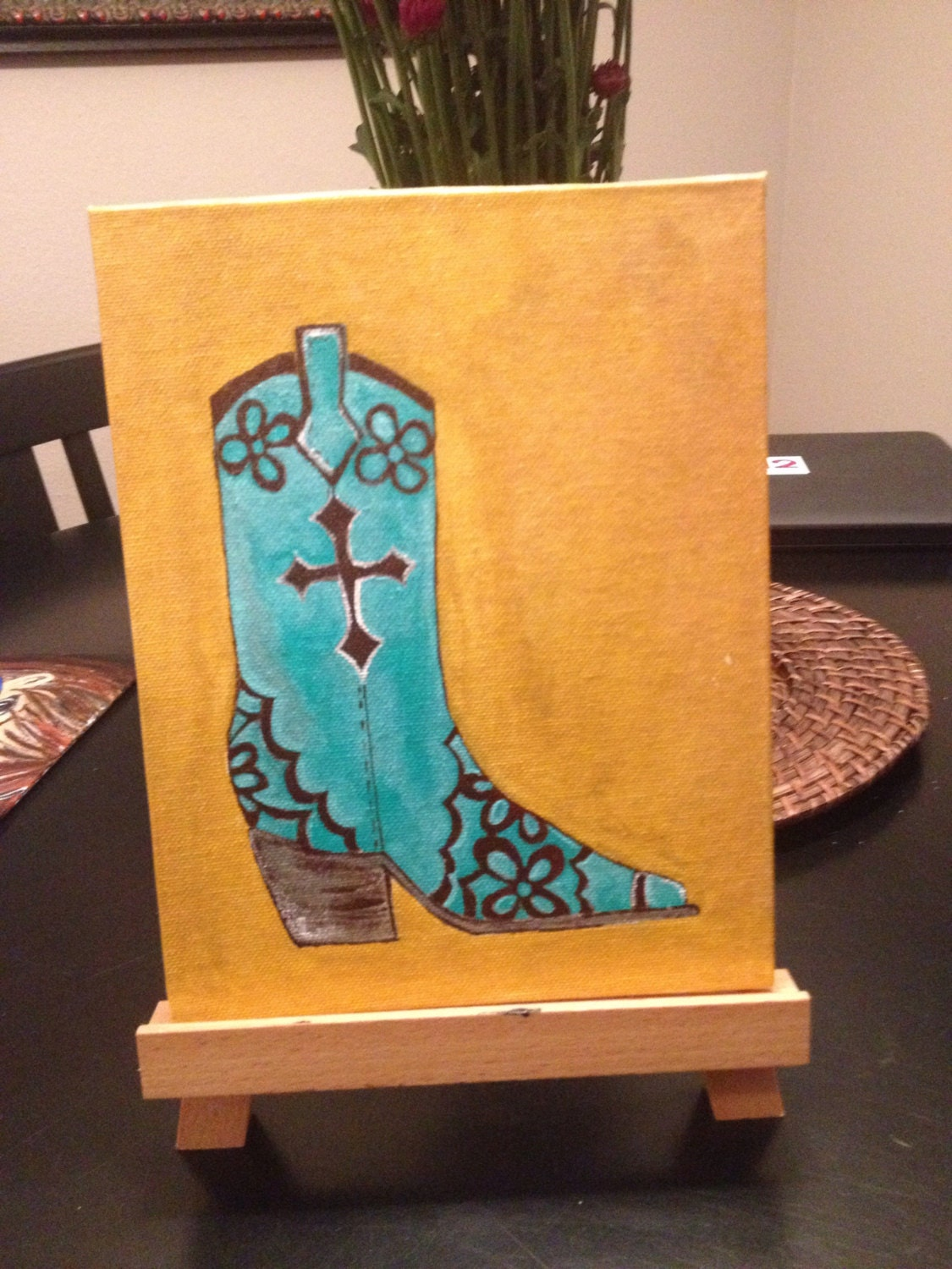How To Paint Cowboy Boots On Canvas
