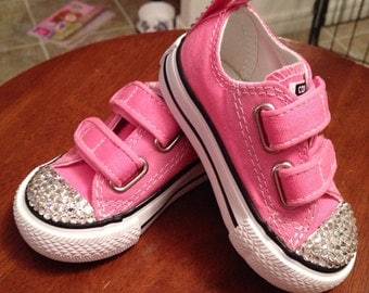 Low Top Bling Converse Velcro