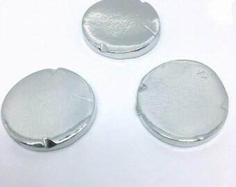 Pewter Stamping Blanks | Chunky Round | Handstamping Metal Blanks | Aluminum Blank Alternative | Stamping Blanks | Jewelry Designs (M137B)