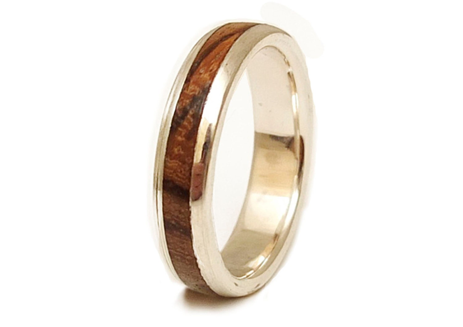 Silver And Wood Mens Rings 2