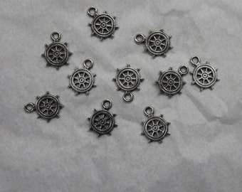 15 Ship Wheel Charms # 19