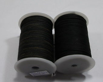 1.5mm  round nappa black premium leather- 100 meters  325 feet