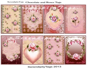 Luxury Chocolate and Roses Tags