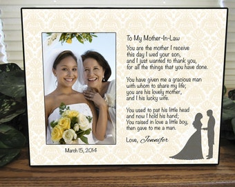 Mother In Law Frame, Mother In Law gift, Wedding, Personalized Frame, Custom Frame