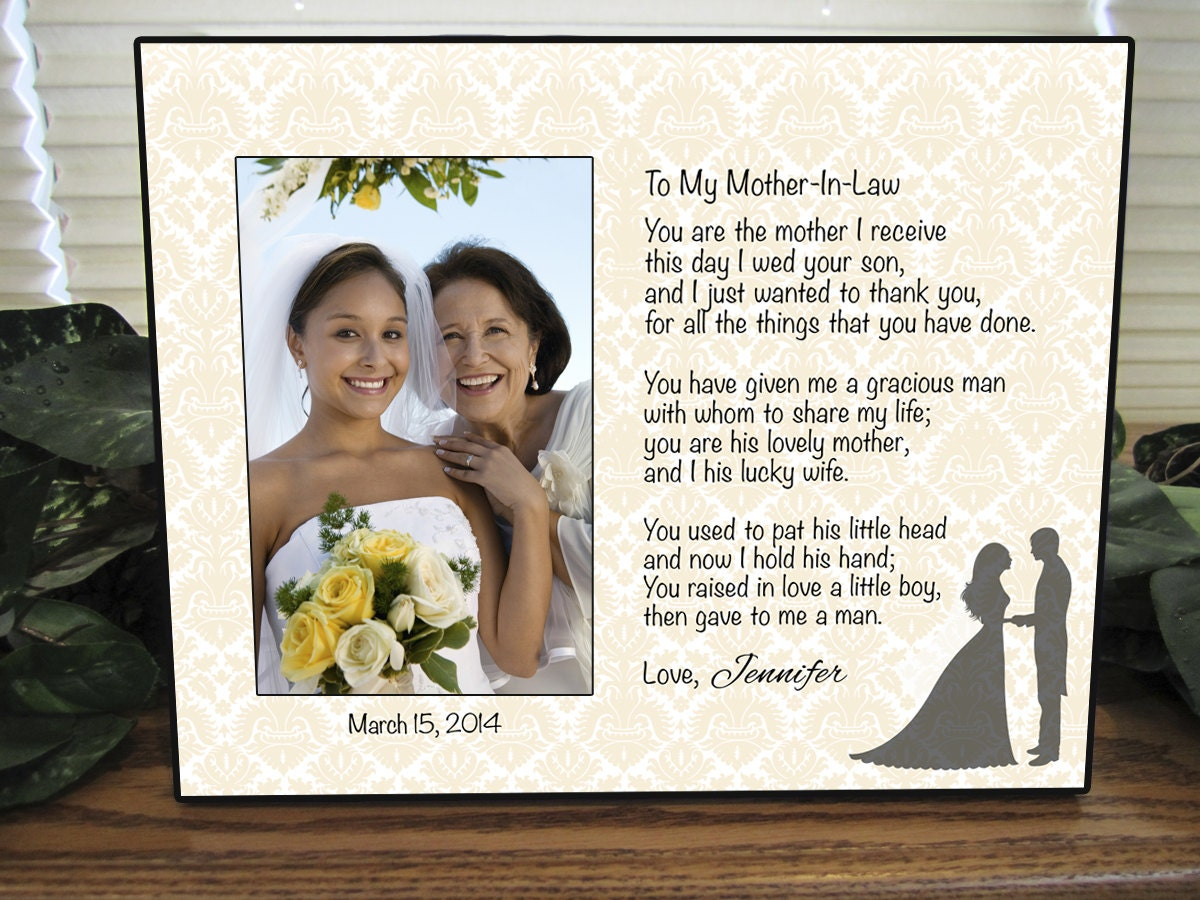 Wedding Gift Ideas For Mom: Mother In Law Frame Mother In Law Gift Wedding Personalized
