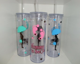 Mommy to be - 17 oz tall tumbler