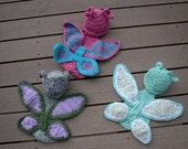 Made to Order/Handmade Newborn/0 to 3 Months Butterfly Crochet Photo Prop Cape Set/Baby Shower Gift/Baby Costume JoellaCrochet