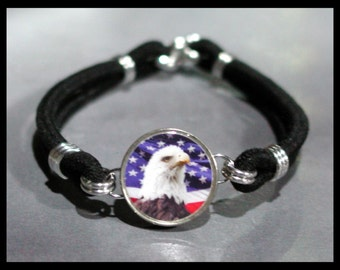AMERICAN EAGLE National Pride Dime Stretch Bracelet - One size fits most - Made In USA