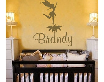 Personalized Name Fairy Flower Wall Decal // Custom Name Decal // Vinyl Sticker // Teen Girls // Name Decal // Personalized Kids Decal  FA24