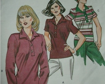 Misses Top Sizes 14-16-18-20 Kwik Sew Pattern 1064 Vintage 1980