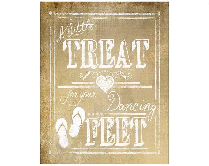 Vintage Style Flip Flop Wedding sign DIGITAL Downloadable DIY PRINTABLE file