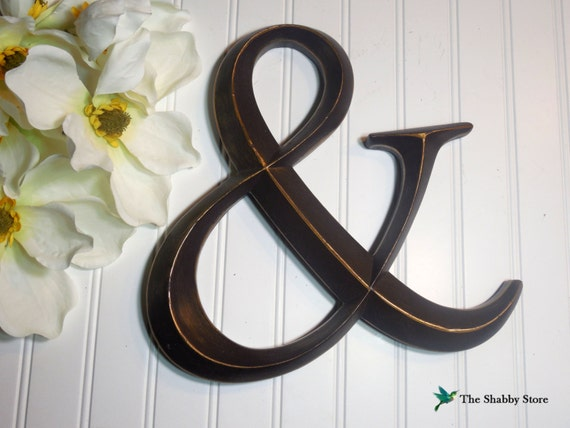 Ampersand letter wall decor french by theshabbystore on etsy for Ampersand decoration etsy