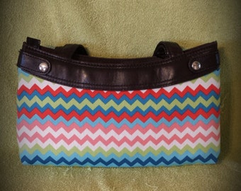 Spring Zig Zags Purse Skirt ONLY for Old Style Thirty-One Skirt Purse