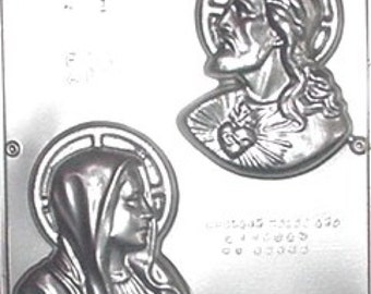 Sacred Heart and Mary Chocolate Candy Mold Religious 401