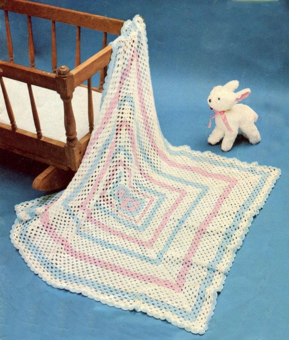 Crochet Baby Blanket Patterns 4 Ply : Instant VERY EASY BLANKET Crochet Pattern by ...