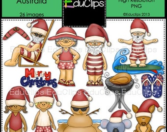 Christmas In Australia Clip Art Bundle