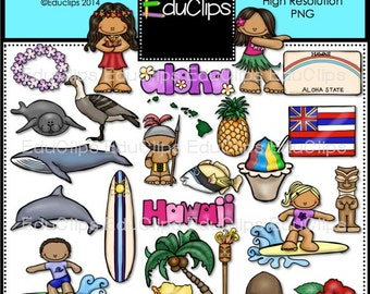 Hawaii Clip Art Bundle