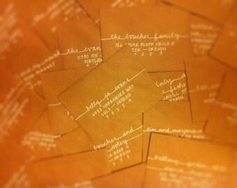 Hand-lettered Custom Addressed Envelope