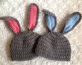 Crochet Bunny Hat Easter Bunny Hat Crochet Hat Baby Girl Baby Boy Bunny Beanie