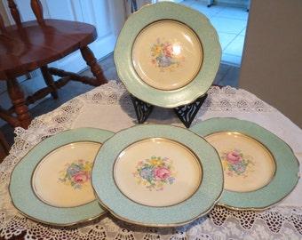 Vintage Royal Tudor Ware barker Bros ltd small china side plates