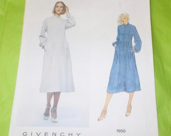 Vogue 1950 Paris original Givenchy dress sewing pattern size 10 uncut A Vogue Paris Original size 10 Pullover fitted bodice flared skirt