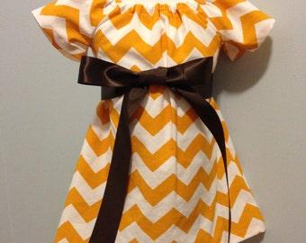 Mustard Chevron Dress