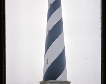"Cape Hatteras Light, North Carolina, 1960's Summer, 4000 dpi, print up to 16"" x 20"", 1960's American Scene, Kodachrome Photo Slide Download"