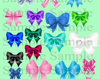 Bow clip art digital clip art INSTANT DOWNLOAD colorful bows - Digital Bow ClipArt - Personal Commercial Use