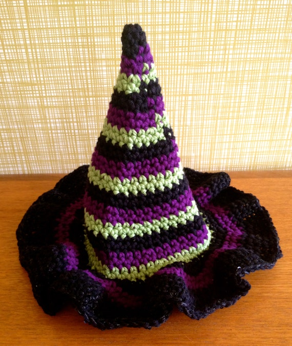 Crochet Baby Witches Hat by PickleandPearl on Etsy