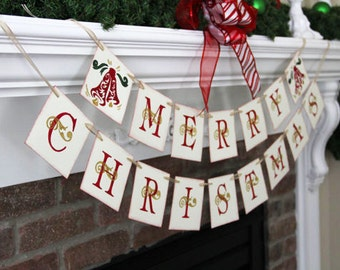 Merry Christmas banner • Christmas banner • Christmas garland • Christmas Decor • Christmas Decoration
