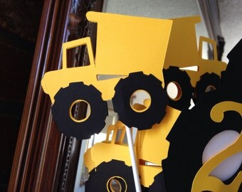 Dump Truck Kids Birthday Party Package/ Dump Truck Banner Package/ Tonka Truck party