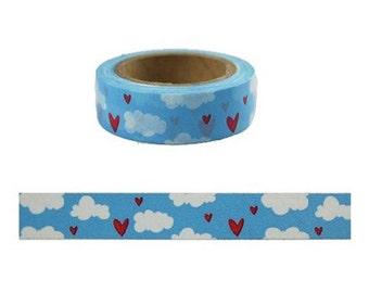 Blue sky and white cloud Washi Tape -- Japanese Washi Tape -Deco tape-- 10M