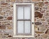 Window - Old Window - Stone Window - Stone Barn - Color Photograph - Rustic Window - Window Wall Decor - Window Art - Americana - Rustic Art
