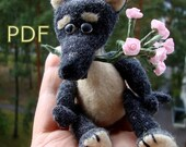 Wolf-cub can open its mouth. Instant download PDF Sewing Pattern With Step-By-Step in Photos. This is a new kind of puppet (OMtoy).
