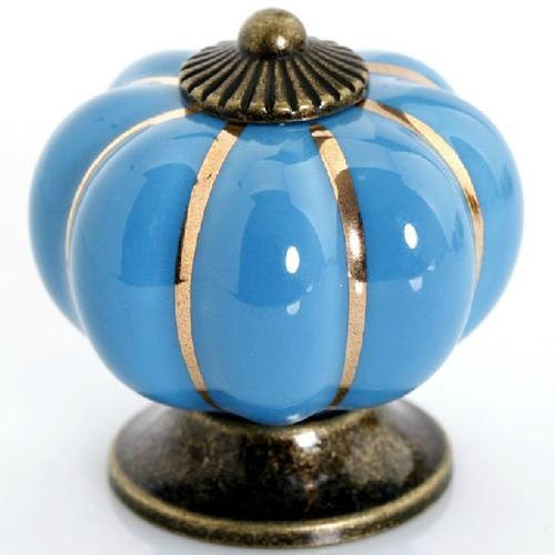 Dresser knob blue drawer knobs pulls handles turquoise blue for Turquoise door knobs