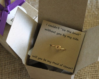The Knot Wedding Gift List : ... , Tie the Knot Ring, Maid of Honor, Wedding Favor, Bridal Shower